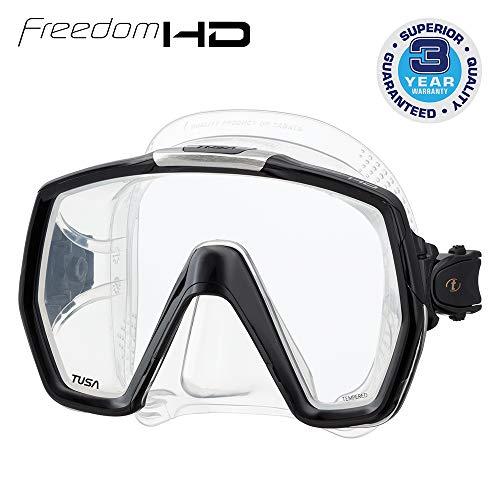 Tusa tauch-maske Freedom HD schnorchelmaske erwachsene profi, silikon transparent, schwarz