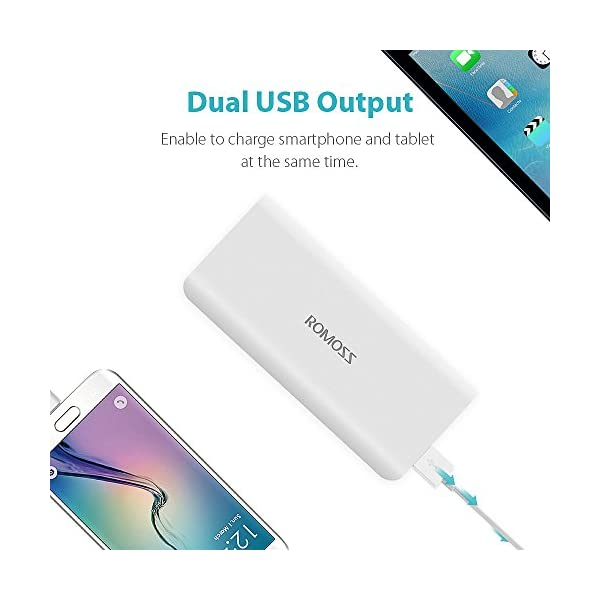 ROMOSS Power Bank 10000mAh Compatto, Carica Batterie Portatili Cellulare Universal 2 Port 2.1A Output Compatibile con La… 4 spesavip