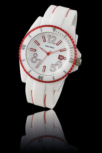 Montre Time Force - Affichage bracelet Caoutchouc Blanc et Cadran TF-4186L05