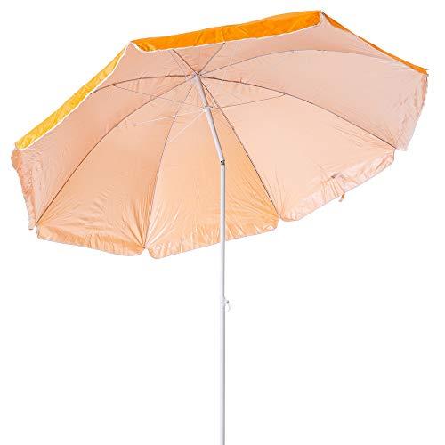 Sombrilla de Playa Plegable Naranja de Nylon de 220 cm Garden - LOLAhome