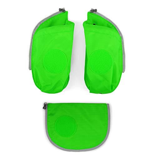 Ergobag Zubehör und Accessoires Sichherheitsset Cubo 3-tlg mit Seitentasche Grün 213 grün