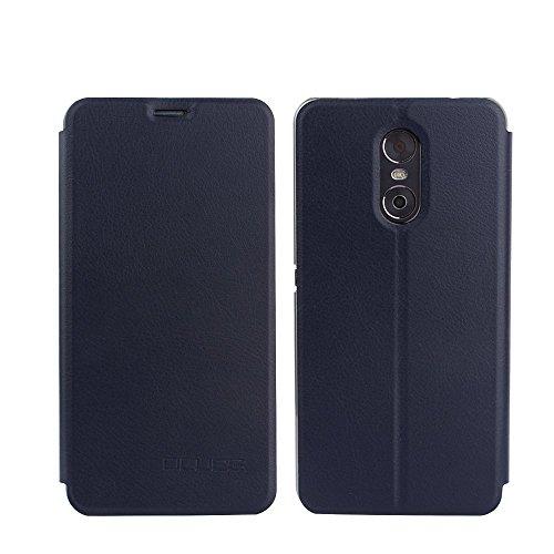 Tasche für Ulefone Gemini Hülle, Ycloud PU Ledertasche Metal Smartphone Flip Cover Case Handyhülle mit Stand Function Marineblau