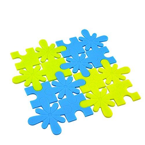 Generic Tapis de silicone 10 pcs/lot Mode Creative Scie sauteuse Coussinets coloré antidérapant Isolation thermique Tasse Coussin Accessoires de Cuisine