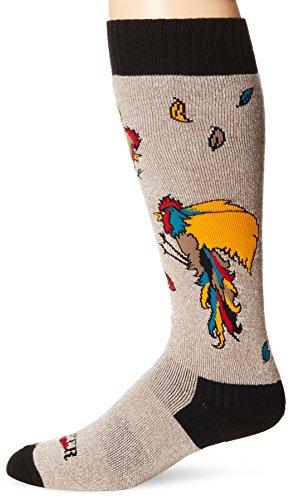 Hot Chillys Herren Wintersportsocken Brawl mittlere Länge, Grau/Schwarz, L, 501177 (Hot Chillys Winter Socken)