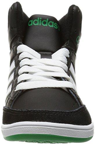 Adidas Vlneo Hoops Mid F38717 Jungen Moda Schuhe BLACK/RUNWHT/FAIRWA