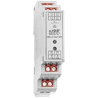 ELV Homematic Komplettbausatz 1-Kanal-Schaltaktor im Hutschienengehäuse HM-LC-Sw1-DR, für Smart Home/Hausautomation
