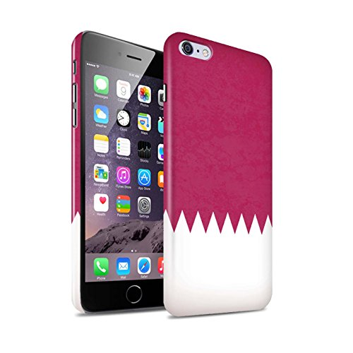 STUFF4 Glanz Snap-On Hülle / Case für Apple iPhone 6S+/Plus / Pakistan/Pakistanisch Muster / Asien Flagge Kollektion Katar/Qatari