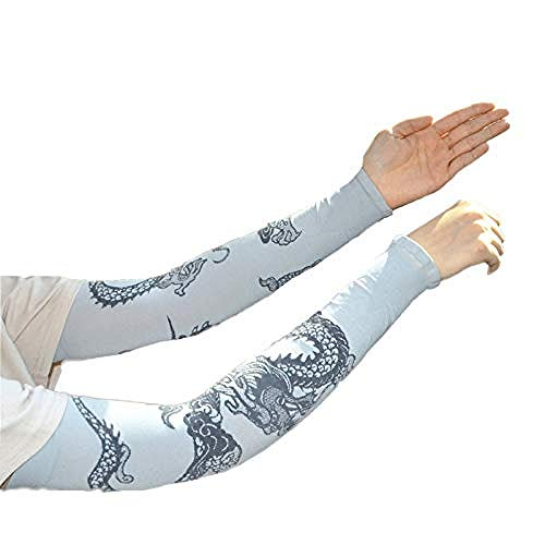 el Arm Tattoo Strumpf Ice Silk Sunscreen Sleeve Tattoo Nylon Tattoo Arm Tätowierung Armstulpen-Kit Arm Sonnenschutz Strümpfe Zubehör Für Unisex(Grau) ()