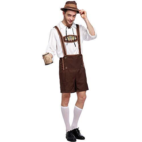 Halloween Kostüm Herren Erwachsene Unisex Karneval Fasching Oktoberfestkleidung Bühnenkleidung,Braun,XL (Baby Tragen Led Kostüm)