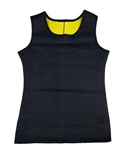 Uomo corpo shaper gilet sportivo perdere peso bruciare grassi corsetti accelerare la traspirazione neoprene effetto sauna di grandi dimensioni shapewear nerogiallo xl