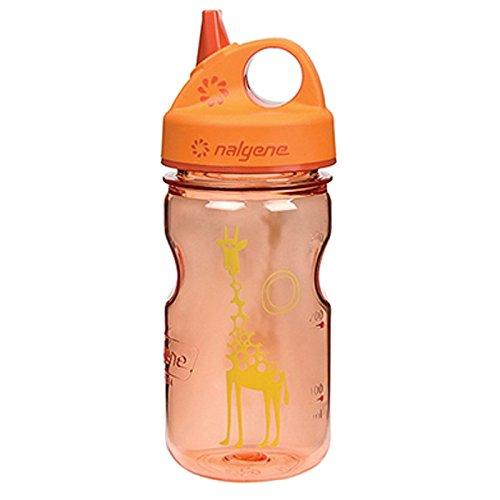 Nalgene Trink und Kunststoff Flasche Everyday Grip-n-Gulp Trinkflasche, Orange, Giraffe, 0.35 L -