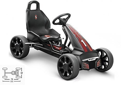 Puky Go Cart F 550 schwarz 3530 Modell 2015 rote Applikationen