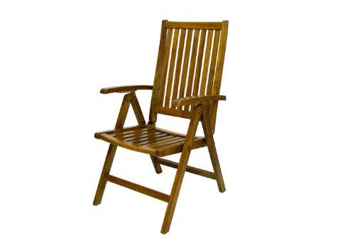 Divero Terrassenmöbel-Set Gartenmöbel-Garnitur Sitzgruppe – großer Esstisch 180/240 cm ausziehbar 6 Hochlehner mit Armlehne – Akazie massiv behandelt Bild 3*
