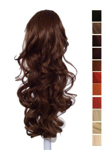 Prettyland - 60cm extension clip di estensione dei capelli ponytail della clip coda di cavallo ricci haarteil- 12b