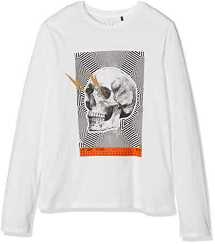 IKKS Junior tee Shirt Ml Tete De Mort Camiseta, Beige (Blanc Cassé 19), 10 años (Talla del Fabricante: XX-Small) para Niños