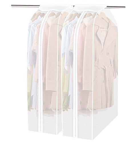 Confezione da 2vestiti di borsa, lavabile trasparente PEVA da appendere vestiti copertura antipolvere indumento borsa organizer Frameless Suit Protector (60*30*110cm) - Lungo Un Fotogramma
