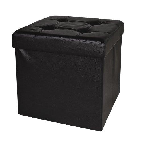 XL SoBuy 48x48x48cm, caja taburete, banco, puff arcón