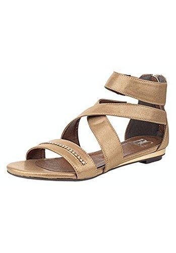 Sandalo col tacco alto Strap Donna di Andrea Conti Oro
