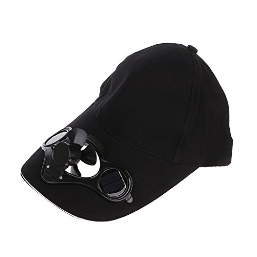 WDTong Mini Tragbarer Lüfter, Sommer Sport Outdoor Hat Cap Mit Solar Sun Power Cool Fan Für Fahrrad Fahren Klettern Im Freien Reisen Power Cap Batterie