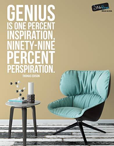yiyiyaya Thomas Edison Zitat Inspirational Quote Vinyl Wandtattoo Schlafzimmer Home Art DecoWandaufkleber 42 * 64 cm