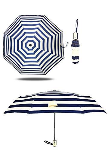 GUANHONG Ausgangspunkt Damen gestreift Regenschirm Aluminium-Legierung automatische Schirm 30% selbstöffnende Selbstempfang, ultraleichte Student Umbrella - Ausgangspunkt