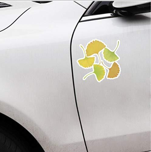 ysurehom 11X10.9Cm Maple Leaf Blätter Blumen Pflanzen Zubehör Auto Aufkleber 2Pcs -