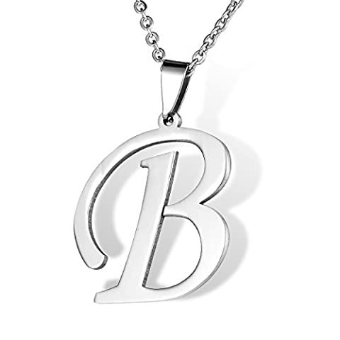 HOUSWEETY Collier Pendentif Lettre Initial
