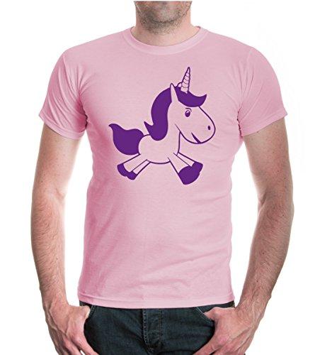 buXsbaum® T-Shirt Unicornis-Silhouette Lightpink
