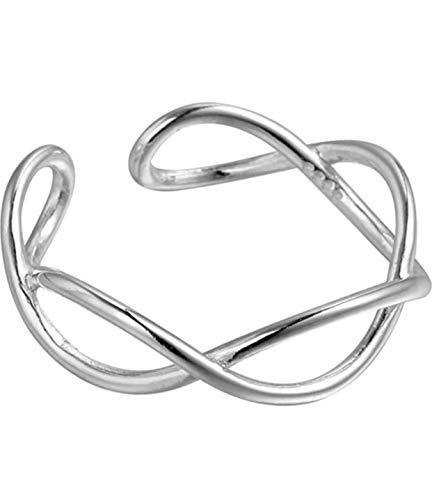 Izzie Jewelry - Anillo plata ley cruz alambre fino