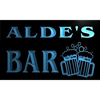 w106479-b ALDE Name Home Bar Pub Beer Mugs Cheers Neon Light Sign