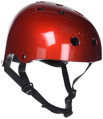 SFR Helm für Skater,Scooter,Biker (Rot metallic, S - M / 53 - 56 cm)