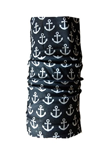 Spark Black Anchor 13 in 1 Multipurpose, Multifunctional Unisex stylish Free size Headwarp Bandana Skull Cap Face Mask for cycling/Bikers Racer made from Polyster Cotton Lycra protect from Dust, Sunlight and wind  available at amazon for Rs.99