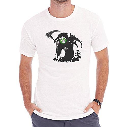 Reaper Death Black Skull Wings Herren T-Shirt Weiß