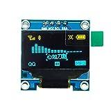 HiLetgo 2,4 cm SSD1306 I2C IIC SPI Serial 12864 - Pantalla LCD OLED para Adafruit Arduino Beaglebones Raspberry Pi 3.3-5V 4 pines/7 pines (3 fuentes), color blanco, azul y amarillo.