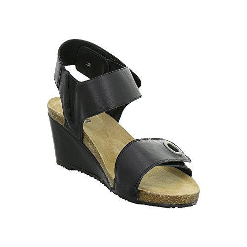 Bullboxer Keil-Sandaletten Schwarz