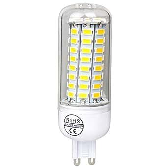 Neverland G9 9W LED ampoule ampoules et maïs Lampe 72 x 5730 SMD LED à économie d'énergie lampe spot ampoule lampe maïs blanc 5500 - 6000K (360 degrés d'angle de faisceau, AC 220-240V)
