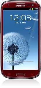 Samsung Galaxy S III i9300 Smartphone 16 GB (12,2 cm (4,8 Zoll) HD Super-AMOLED-Touchscreen, 8 Megapixel Kamera, Micro-SIM, Android 4.0) garnet-red