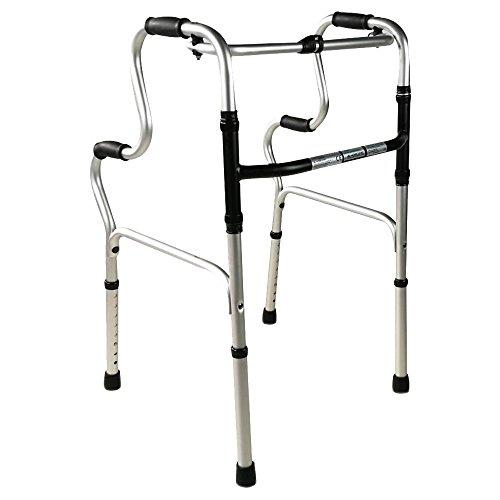 Andador ancianos | Aluminio | Plegable | Sin ruedas