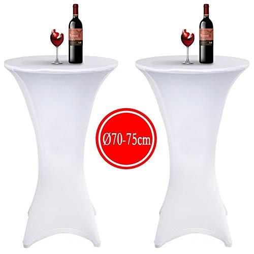 2 manteles elásticos licra mesa cóctel Ø 70-75cm