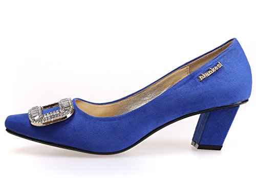 SEXYHER Femmes Mode 2,2 pouces š€ petits talons en quatre couleurs Chaussures Wedding Party - SHOMKS5110-90 Bleu