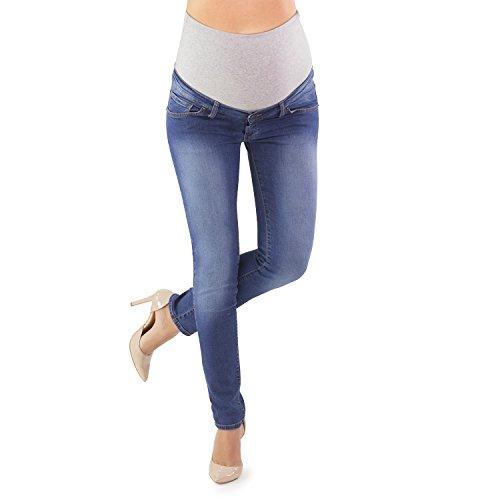 Mamajeans jeans premaman in super sconto, lievi difetti impercettibili, due gradi di difetto - made in italy (40 it, grado a)
