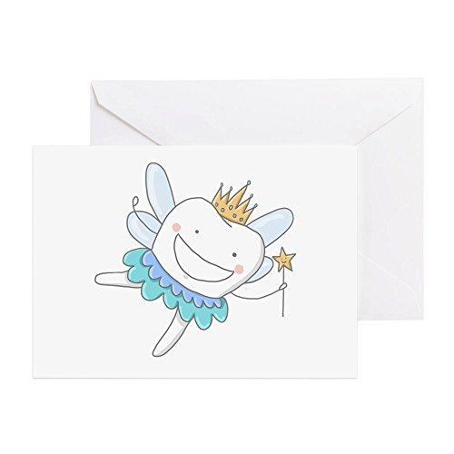 CafePress-Zahnfee --Grußkarte, Note Karte, Geburtstagskarte, innen blanko, glänzend