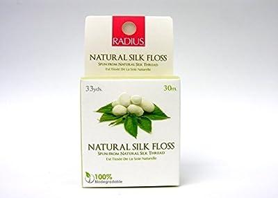 RADIUS Floss, USDA Organic Biodegradable Silk Floss, Plant waxed, Round, 30 meters (1 unit)