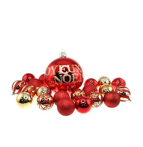 20 boules de Noël 6cm et de boule 15cm 'Joyeux Noël' d'occasion  Livré partout en Belgique