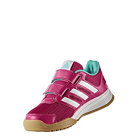 adidas Kinder Indoor Schuhe Interplay CF Pink / Weiss / Mint -4.5 (UK)