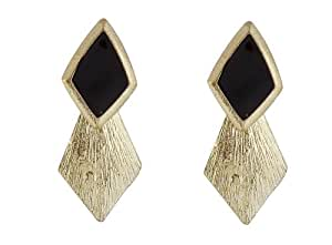 Crunchy Fashion Black Drop Earrings for Girls