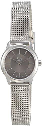 Calvin Klein Damen-Armbanduhr XS ck minimal Analog Edelstahl K3M23124