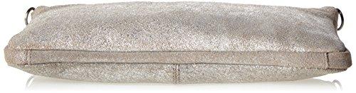 PIECES - Pcsolange Leather Cross Body, Borse a spalla Donna Argento (Silver Colour)