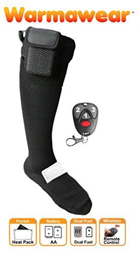Warmawear Chaussettes Chauffantes à Piles Dual Fuel avec Télécommande