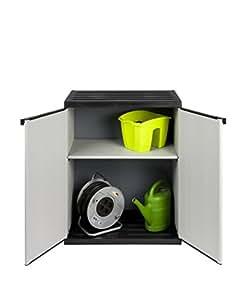 armoire en plastique pour l 39 int rieur et l 39 ext rieur avec plaque sup rieure et socle r sistants. Black Bedroom Furniture Sets. Home Design Ideas